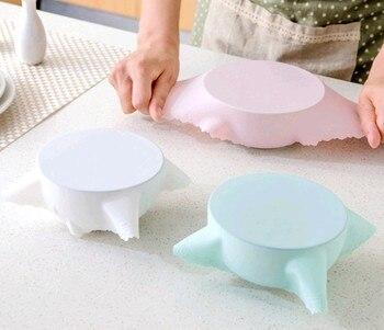Urijk 2018 silicona reutilizable envoltura estirable tapa agarre alimentos mantenimiento fresco película sellador tapa térmica para horno o microondas caliente