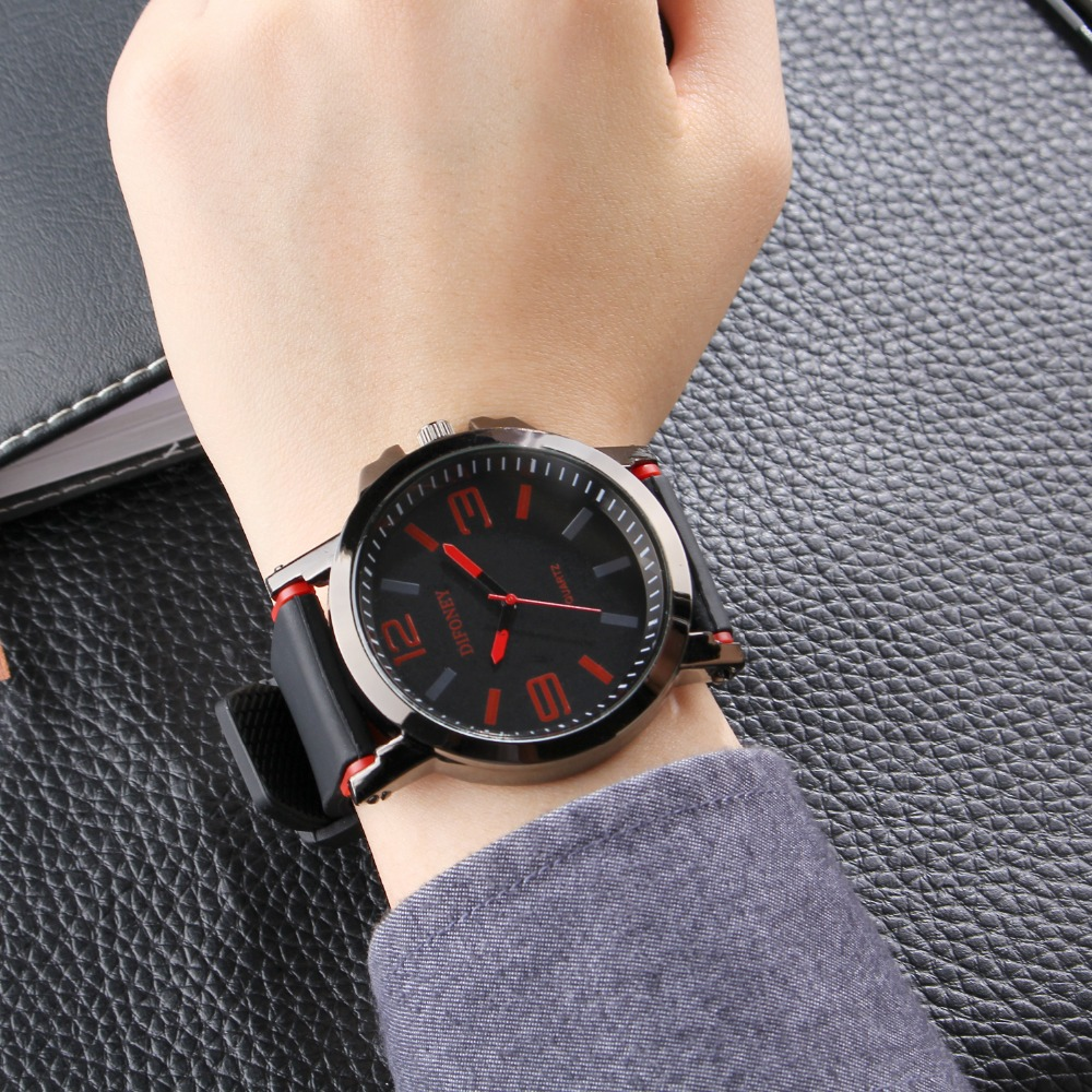 2019 DIFONEY Marca de moda Reloj deportivo Hombres Reloj analógico - Relojes para hombres - foto 4