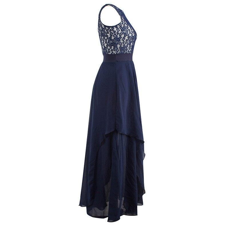 4ca433d4fe Oco Vestido De Festa Azul Marinho Robe Sexy Mulheres Vestido de Festa  Vestidos 2019 Sem Mangas Vestido Longo Vestido de Verão Chiffon FYY320 em  Vestidos de ...