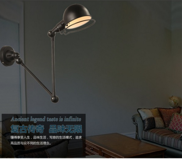 RH loft wall lamp mechanical arm france Jielde wall lamp reminisced retractable double vintage,folding rod- With SwitchRH loft wall lamp mechanical arm france Jielde wall lamp reminisced retractable double vintage,folding rod- With Switch