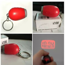 Mini LED Watch Night Light Projector Flashlight With Hanging Rope Portable Digital Time Projection Clock