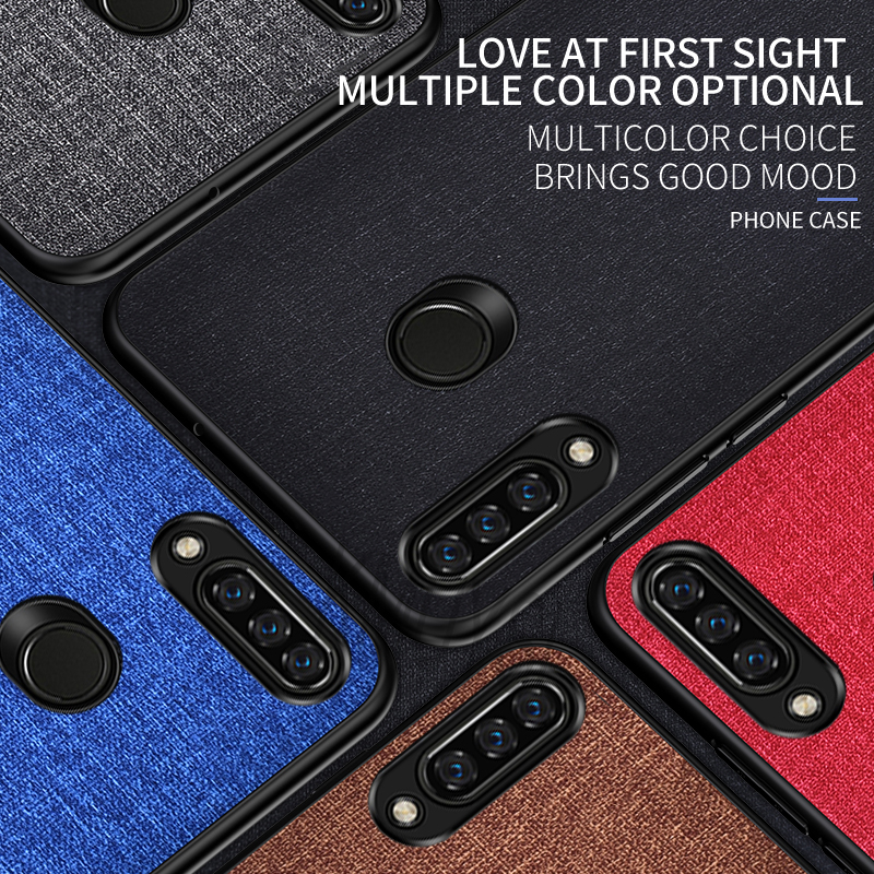 Fabric Phone Cloth <font><b>Case</b></font> for <font><b>Huawei</b></font> P Smart Z Plus Y5 <font><b>Y7</b></font> Y9 Prime <font><b>2019</b></font> P20 P30 Pro Mate 20 Lite Honor 10i 20i 8X 8C 8S 7C 8A <font><b>Case</b></font> image