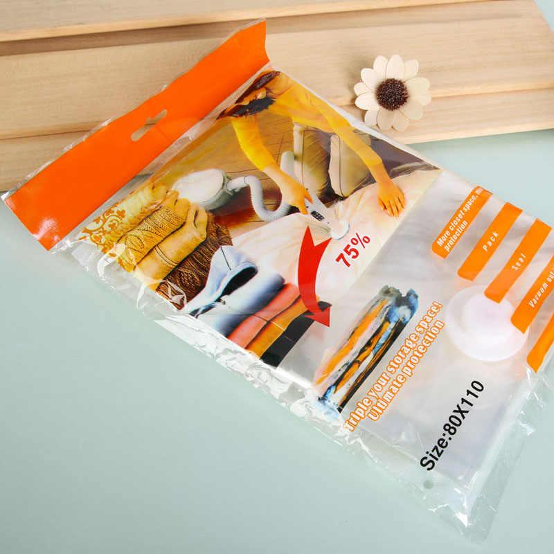 Joint sous vide sac de rangement nouveau gain de place économie de vêtements oreillers joint de stockage sacs sous vide sac organisateur compressé