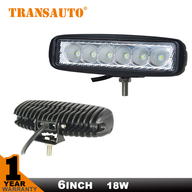 6INCH 18W MINI LED BAR 12V LED WORK LIGHT SPOT FLOOD FOG LAMP FOR OFF ROAD BOAT TRUCK ATV 4x4  LED DRIVING LIGHT