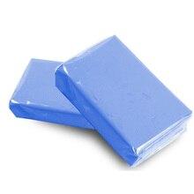 Barra de arcilla de limpieza mágica para coche, barra de arcilla azul de limpieza para coche, con detalles automáticos, herramienta para el cuidado de la arcilla, lavado de barro, arandela de coche, 100g