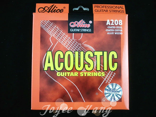 Alice A208 Acoustic Guitar Strings Phosphor Bronze Color Alloy Wound Strings 1st-6th Free Shipping