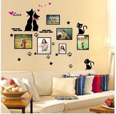Wall photo frame wall stickers creative arrangement dorm room ...