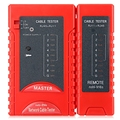 NSHL-916 S Multifuncional RJ45 RJ11 CAT5 UTP Red LAN Cable Tester de Red Inteligente Herramienta Detector de Alambre de Color Rojo
