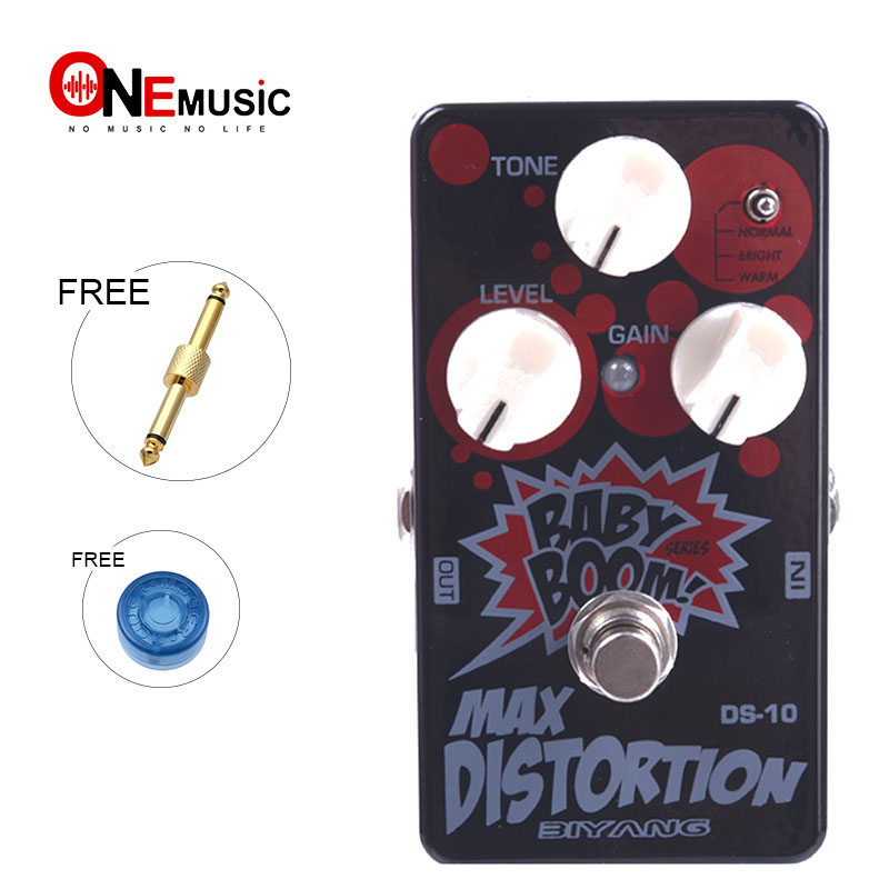 Biyang Baby Boom DS 10 Three Modes Electric Guitar Bass Pedal Max Distortion Effect pedal True