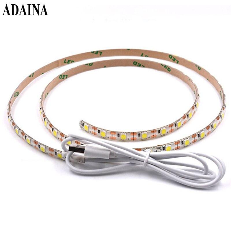 2M USB 5V Waterproof Led Strip Light IP65 Battery Operated Diode Tape SMD5050 30Chips/M TV Led Light Home Decor Ledstrip
