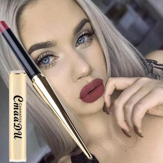 CmaaDu 12 Colors Bullet Waterproof Matte Lipstick New Explosion Lip Gloss  Tint Pencil Sexy Plum Makeup Beauty Tools 1