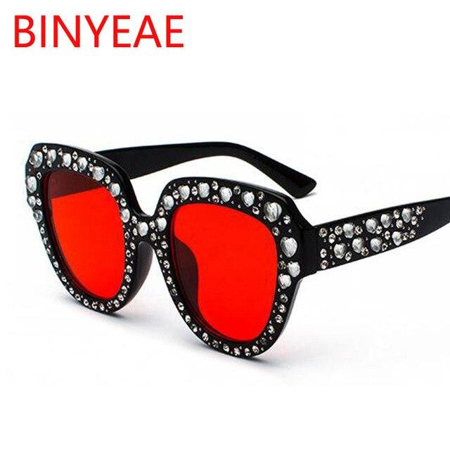 1e7aca44178 Pink Cat Eye Heart Crystal Sunglasses Women 2018 New Italy brand Designer  Oversized Sun Glasses Rhinestones