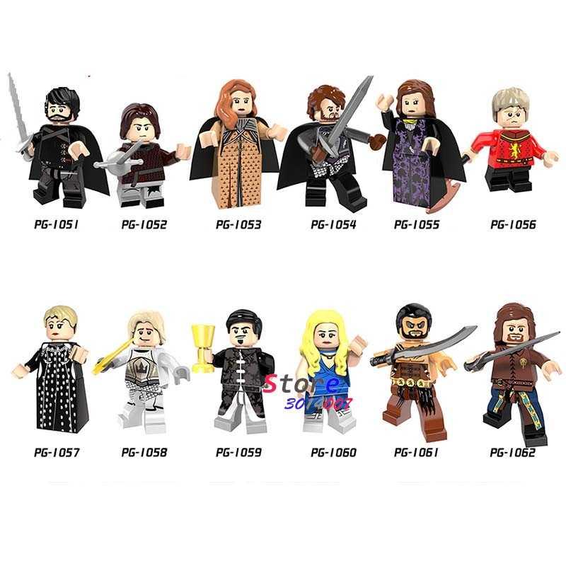 Venta única Juego de tronos Caitlin Alicia Stark Petyr Baelish Jimmy bloques de construcción de hielo y fuego modelo de ladrillos juguetes para niños
