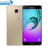 Оригинальный Samsung Galaxy A7 A7100 4G LTE мобильный телефон 5,5 13.0MP 3 ГБ оперативной памяти Dual Sim Octa core смартфон с отпечатками пальцев