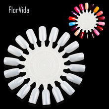 FlorVida 5pcs/set 90tips Nail Art False Nails Showing Shelf For UV Gel Polish Color Display Salon Tools
