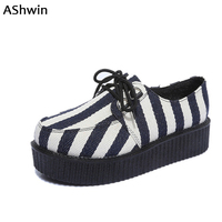 AShwin Women Platform Shoes Spring Fall Loafers Flats Lace Up Round Toe Canvas Shoes Breathable Suede