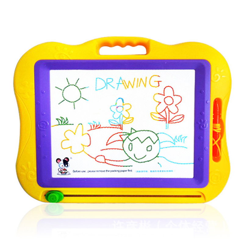 1PCS Children's Magnetic Drawing Board Set Graffiti Drawing Board With Stamp Learning & Education Toys Hobbies for Kids Big