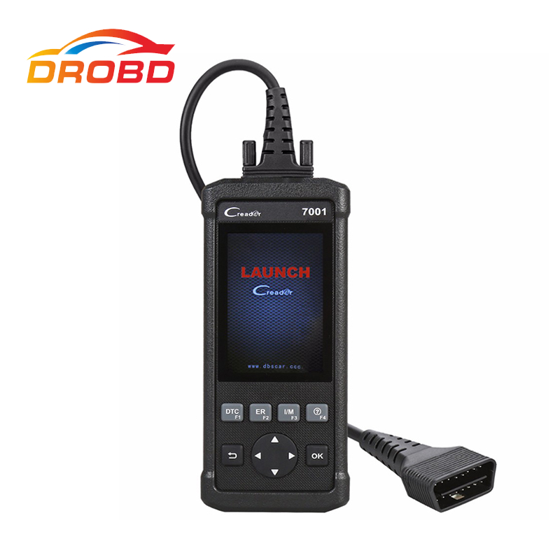 Original Launch DIY Code Reader CReader 7001 CR7001 Standard OBD2 Scanner/Scan Tool with Oil Reset Service ENG/AT/ABS/SRS