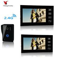 Yobang Security Freeship 7Inch Wireless Intercom System With Door bell Camera Handsfree Doorphone Wireless Night Vision Doorbell