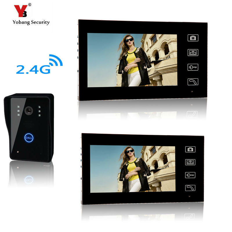 Yobang sécurité système d'interphone sans fil 7 pouces avec sonnette de porte caméra mains libres interphone sans fil sonnette de Vision nocturne