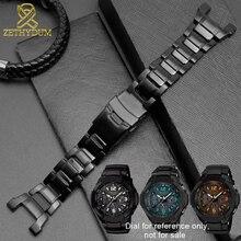 Katı paslanmaz çelik watchband GW 3500B/GW 3000B/GW 2000/G 1000 saat kayışı siyah bilezik bant