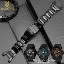 Solid stainless steel watchband for GW 3500B/GW 3000B/GW 2000/G 1000 watch strap black Bracelet band