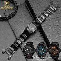 Solidna bransoleta ze stali nierdzewnej do casio g shock GW 3500B/GW 3000B/GW 2000/G 1000 pasek do zegarka czarna bransoletka w Paski do zegarków od Zegarki na