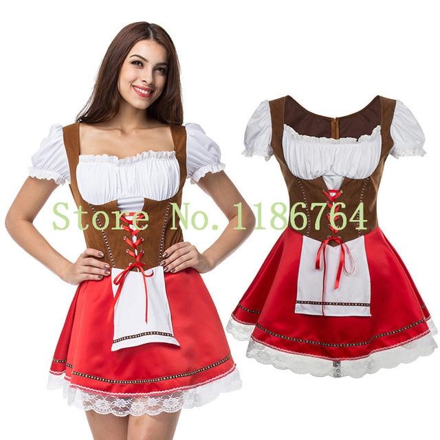 Plus Size 6XL Oktoberfest Costume for Women Octoberfest Bavarian Party Beer  Party Female Oktoberfest Dress beer maid costume 7d1f14f318a1