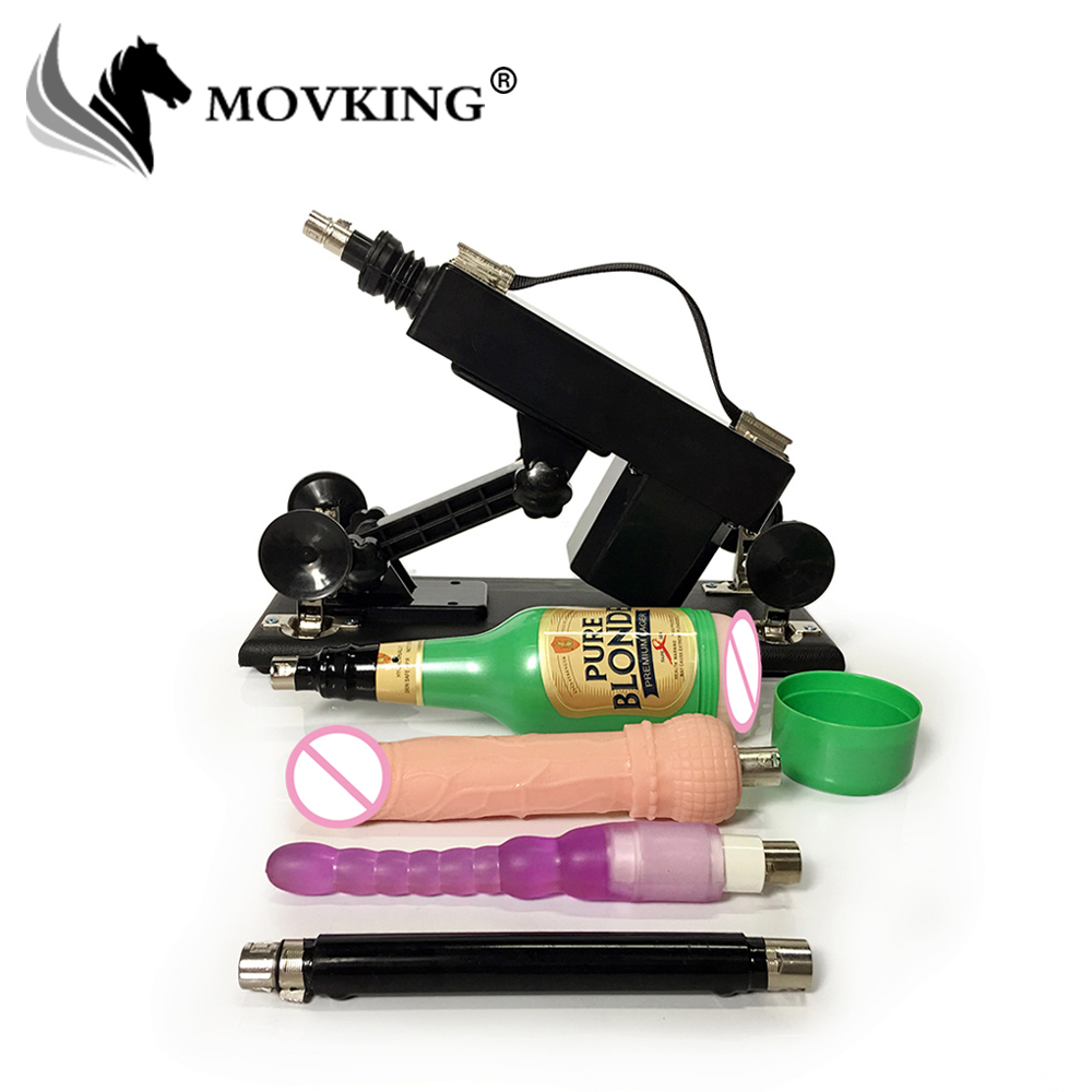 MOVKING Automatic Sex Machine Gun with Vagina Cup and Anal Dildo Retractable Love Gun Sex Machines for Women and Men vibrator sex machine set for men and women automatic retractable thrusting speed machine with vagina cup and dildo adlut sex toy