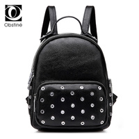 Rivet Backpack Women Fashion Bag Designer Backpacks For Girls Large Travel Back Pack Female Black Cool