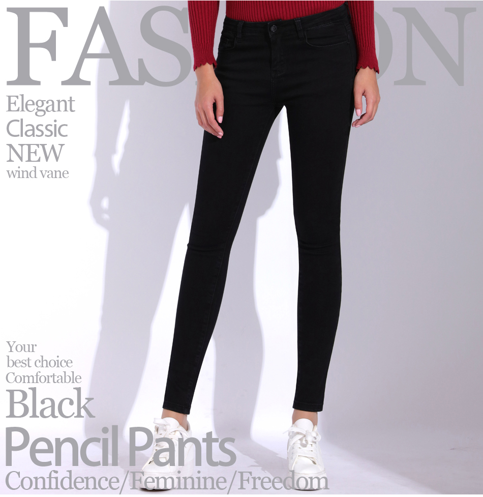 685a835b390 Detail Feedback Questions about Garemay Black Jeans Female Plus Size ...