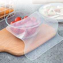 Reusable Silicone Food Lid Bowl Covers Preservative Film Keeping Fresh Stretch Stretchy Suction Covers Food Wrap Kitchen Tools цена