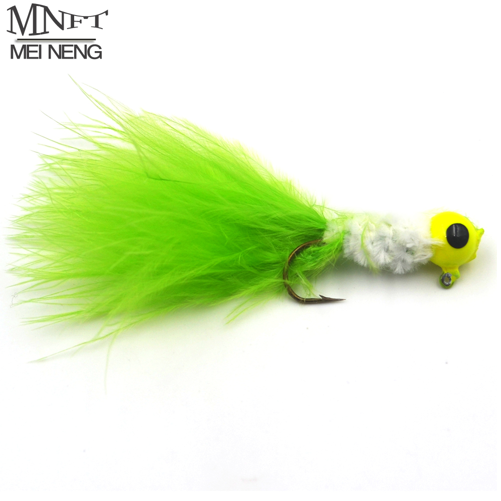 Mnft 10pcs 3g lead hooks fly fishing flies with feathers for Fly fishing bait