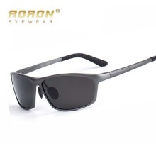 AORON fashion aluminum magnesium alloy frame design polarized sunglasses men's day and night glasses night vision goggles