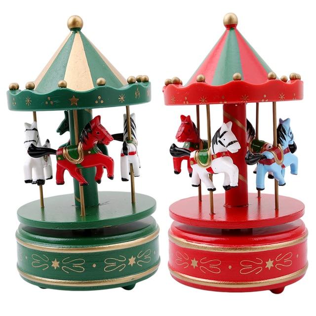 merry go round wooden music box decor carousel horse music box christmas wedding birthday