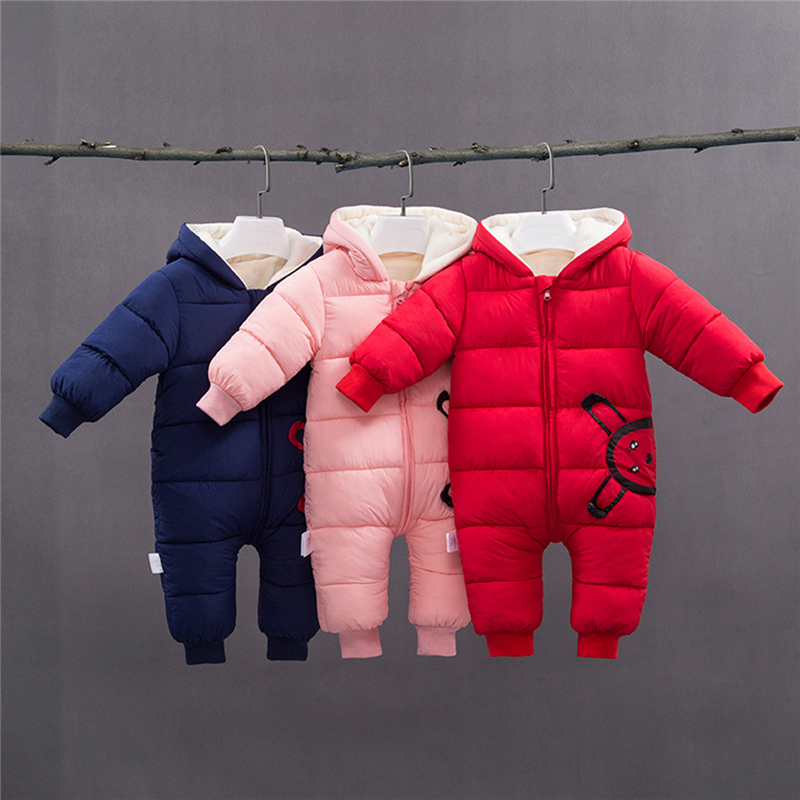 Spring Winter Baby Rompers Jumpsuit Newborn Snow Wear Coats Boy Warm Romper Down Cotton Baby Girl Clothes Hoodies Body Suit baby rompers spring autumn baby boy clothes jumpsuit girl animal rompers winter baby warm romper newborn clothes bebe pajamas