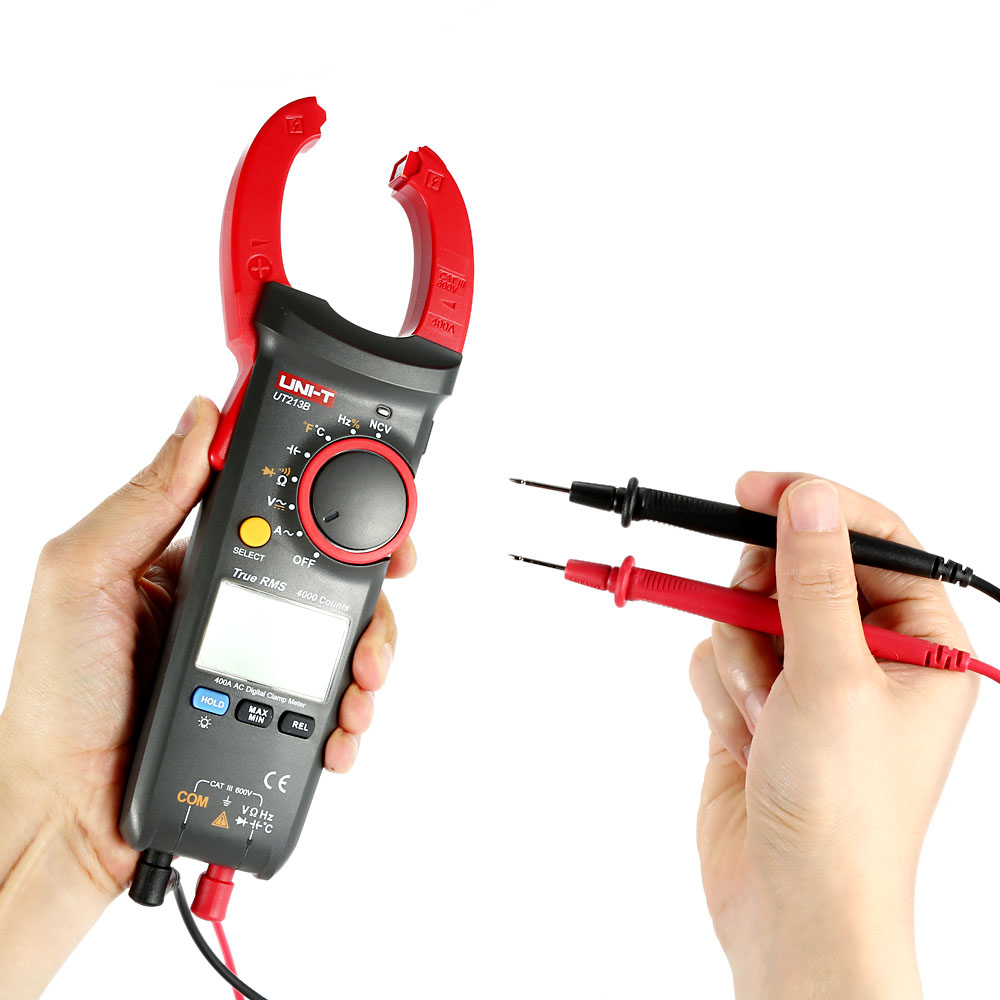 UNI-T Digital Clamp Meter Multimeter Current Tongs AC/DC Voltage Resistance Capacitance Diode Continuity NCV Temperature Tester  usb interface multimeter tester test true rms ac dc current voltage resistance capacitance diode temperature duty cycle meter