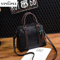 YINGPEI PU Leather Ladies HandBags Women Totes Messenger Bags Hign Quality Designer Luxury Brand Tote Small
