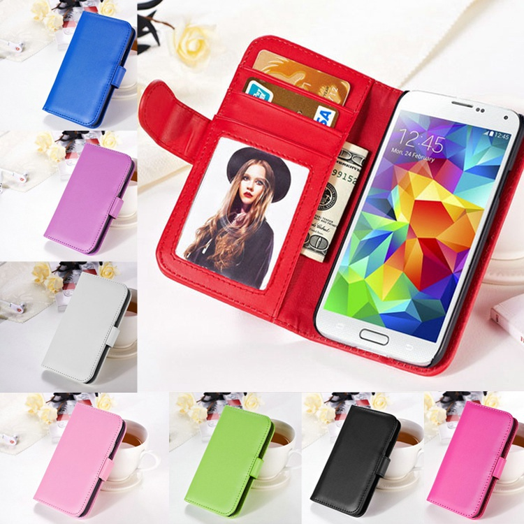 Samsung S7 Cases Photo Frame Cover Card Slot Wallet Leather Case Galaxy S6 S5 Flip Stand Phone Coque - REDSTORE INT'L TRADING CO LTD store
