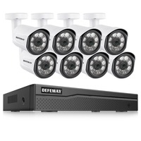 DEFEWAY 8CH HD 1080 P видеонаблюдение POE ip камера домашняя камера безопасности POE Система 8 камера IP комплект видеонаблюдения