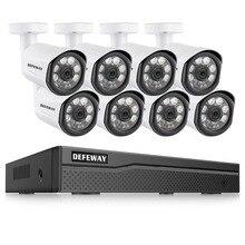 DEFEWAY 8CH HD 1080P IP Camera Outdoor Weatherproof Home Security Camera POE System 8 Camera DIY Kit Video Surveillance System