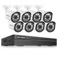 DEFEWAY 8CH HD 1080P Poe Video Surveillance IP Camera Home Security Camera POE System 8 Camera IP Video Surveillance kit