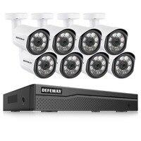 Defeway 8ch hd 1080 p poe 비디오 감시 ip 카메라 홈 보안 카메라 poe 시스템 8 카메라 ip 비디오 감시 키트
