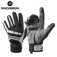 ROCKBROS Ski Handschuhe Touchscreen Winddicht Thermische Winter Schnee Handschuhe Männer Frauen Sport Snowboard Dicken Anti-slip Skifahren Handschuhe