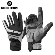 Rockbros Ski Handschoenen Touch Screen Winddicht Thermische Winter Sneeuw Handschoenen Mannen Vrouwen Sport Snowboard Dikke Anti Slip Skiën Handschoenen