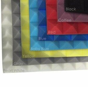 """Image 4 - Arrowzoom 19.6 """"x 19.6"""" x 1.9 """"48 قطعة مجموعة لوحة امتصاص الصوت الهرم استوديو رغوة صوتية البلاط 5 مجموعات الألوان KK1034"""