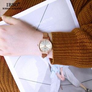Image 3 - IBSO Kadın Saatler 8 MM Ultra Ince Kol Saati Lüks Kadın Saat Moda Montre Femme Kuvars Bayanlar İzle Relogio feminino