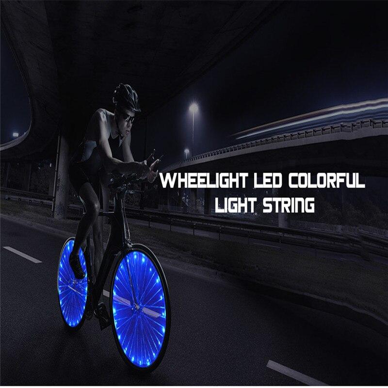 Wheelight Ultra Bright LED Bicycle Wheel Spoke Light String Colorful Light New