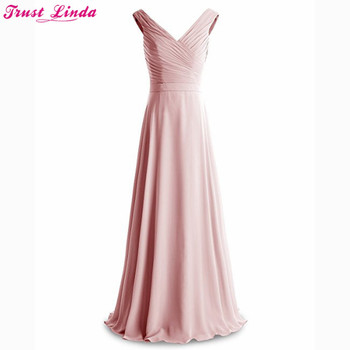 Vestido De Festa Longo Long Bridesmaid Dresses Floor Length Custom Made Long Bridal Party Dress Cheap Bridesmaid Gowns