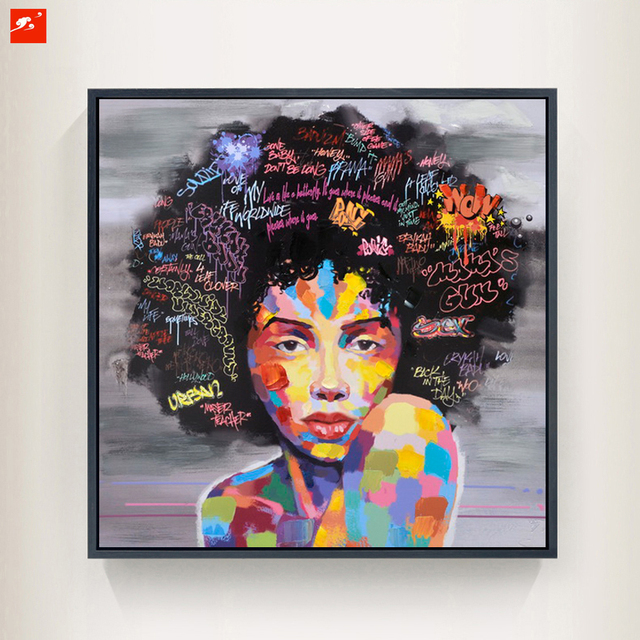 New Graffiti Street Wall Art Abstract Modern African Women